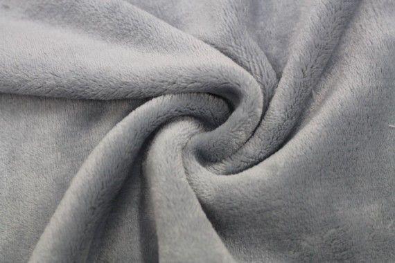 Tissu Micropolaire Doudou Uni Gris Souris -Coupon de 3 mètres