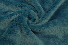 Tissu Micropolaire Doudou Uni Bleu Canard -Coupon de 3 mètres