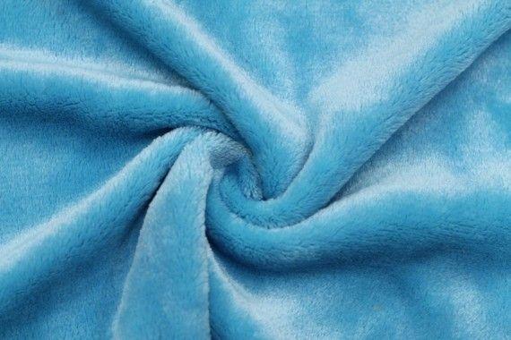 Tissu Micropolaire Doudou Uni Turquoise -Coupon de 3 mètres