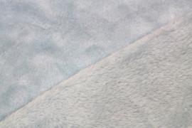 Tissu Micropolaire Doudou Uni Gris Bleu -Coupon de 3 mètres