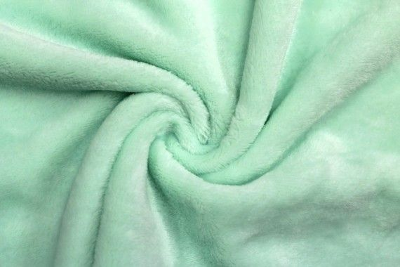 Tissu Micropolaire Doudou Uni Vert d'Eau -Coupon de 3 mètres