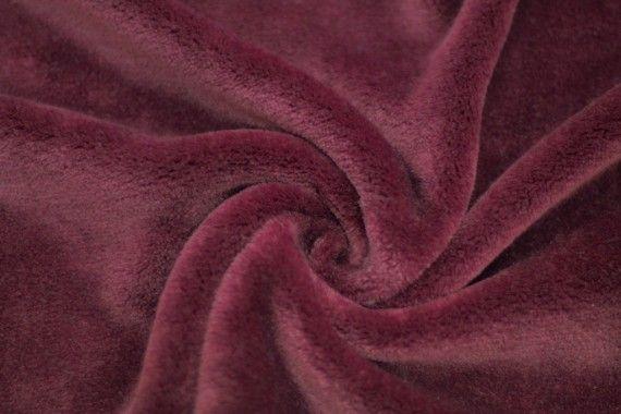 Tissu Micropolaire Doudou Uni Bordeaux -Coupon de 3 mètres