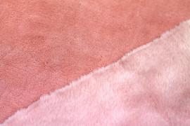 Tissu Micropolaire Doudou Uni Saumon -Coupon de 3 mètres
