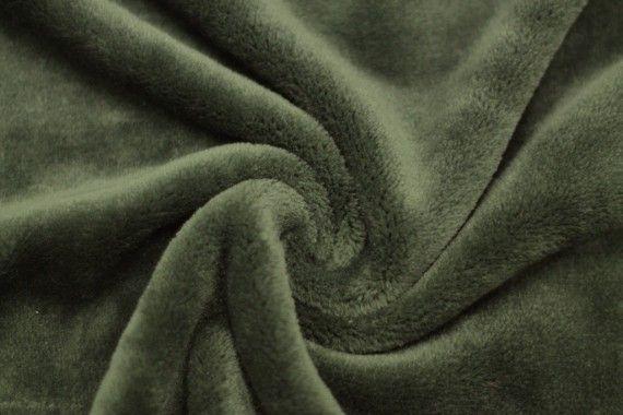 Tissu Micropolaire Doudou Uni Kaki -Coupon de 3 mètres