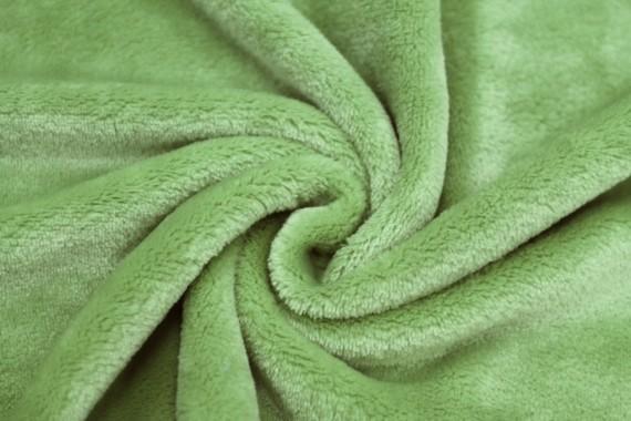 Tissu Micropolaire Doudou Uni Pistache -Coupon de 3 mètres
