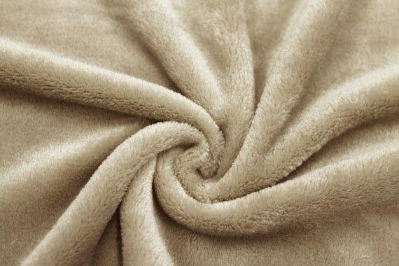 Tissu Micropolaire Doudou Uni Beige -Coupon de 3 mètres