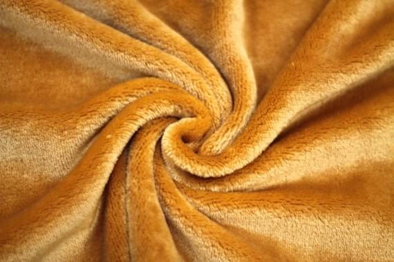 Tissu Micropolaire Doudou Uni Camel -Coupon de 3 mètres