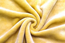 Tissu Micropolaire Doudou Uni Moutarde -Coupon de 3 mètres