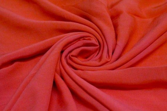 Tissu Voile Uni 100% Viscose Rouge Coupon de 3 mètres