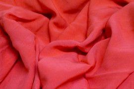 Tissu Voile Uni 100% Viscose Rouge -Au Mètre