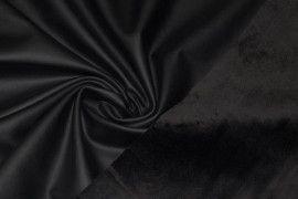 Tissu Simili Cuir Noir envers Velours -Au Mètre