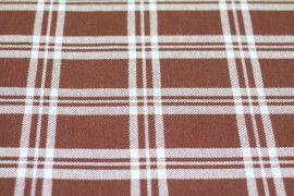 Tissu Lainage Carreaux Brique/Blanc -Au Mètre