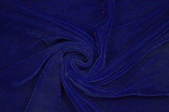 Tissu Velours Velvet Brillant Bleu Roi -Au Mètre