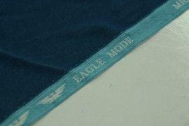 Tissu Velours Velvet Brillant Bleu Pétrole -Au Mètre