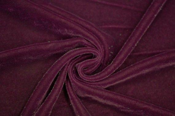 Tissu Velours Velvet Brillant Bordeaux -Au Mètre