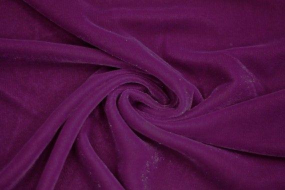 Tissu Velours Velvet Brillant Violet clair -Au Mètre