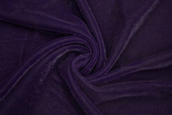 Tissu Velours Velvet Brillant Violet foncé -Au MètreTissu Velours Velvet Brillant Violet foncé -Au Mètre