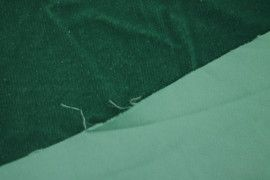 Tissu Velours Velvet Brillant Vert -Au Mètre