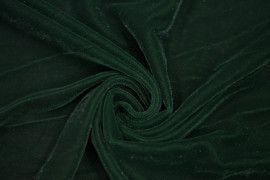 Tissu Velours Velvet Brillant Vert Foncé -Au Mètre