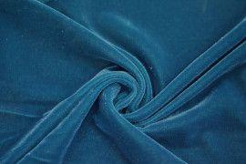 Tissu Velours Velvet Brillant Turquoise foncé -Coupon de 3 mètres