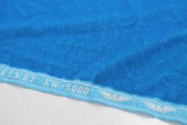 Tissu Velours Velvet Brillant Turquoise clair -Coupon de 3 mètres