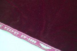 Tissu Velours Velvet Brillant Bordeaux -Coupon de 3 mètres