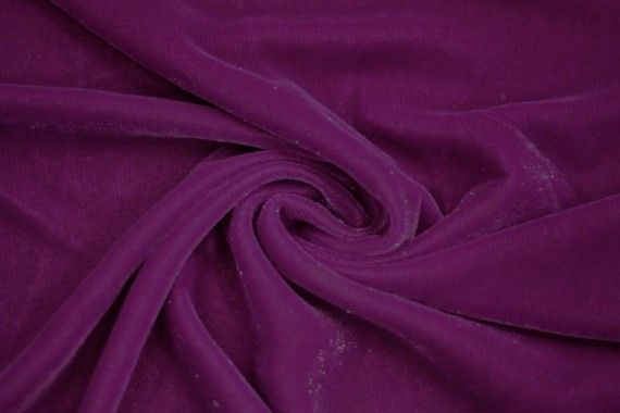 Tissu Velours Velvet Brillant Violet clair -Coupon de 3 mètres