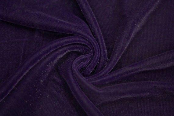 Tissu Velours Velvet Brillant Violet foncé -Coupon de 3 mètres