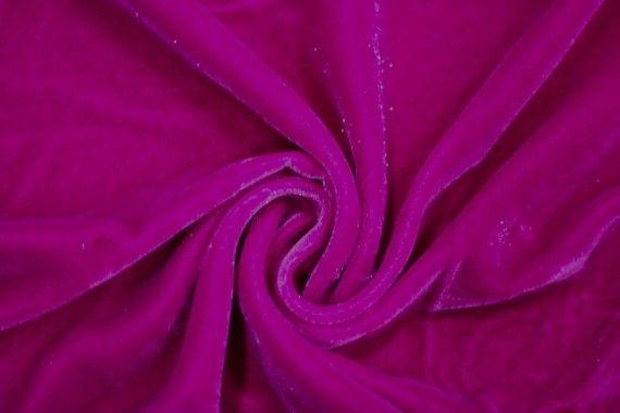 Tissu Velours Velvet Brillant Fuchsia -Coupon de 3 mètres
