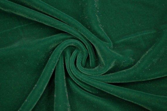 Tissu Velours Velvet Brillant Vert -Coupon de 3 mètres