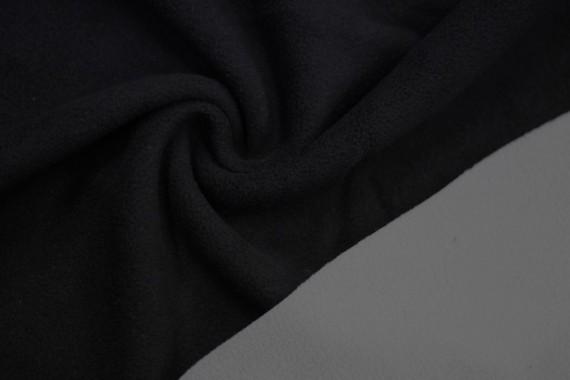 Tissu Polaire Double Face Noir/Gris Clair -Au Mètre