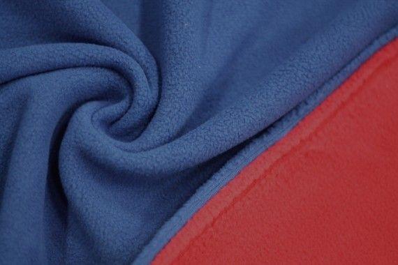 Tissu Polaire Double Face Royal/Rouge -Au Mètre