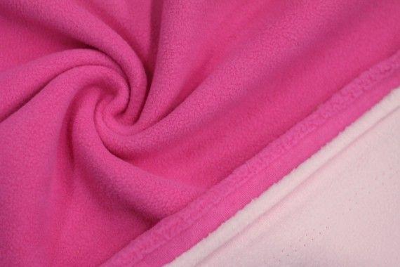 Tissu Polaire Double Face Fuchsia/Rose -Au Mètre