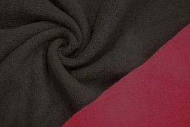 Tissu Polaire Double Face Noir/Rouge -Coupon de 3 metres
