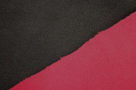 Tissu Polaire Double Face Noir/Rouge -Au Mètre