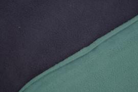 Tissu Polaire Double Face Marine/Turquoise -Coupon de 3 mètres