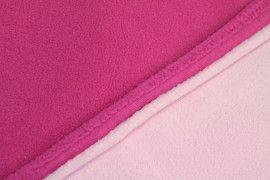 Tissu Polaire Double Face Fuchsia/Rose -Coupon de 3 mètres