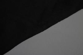 Tissu Polaire Double Face Noir/Gris Clair -Coupon de 3 mètres