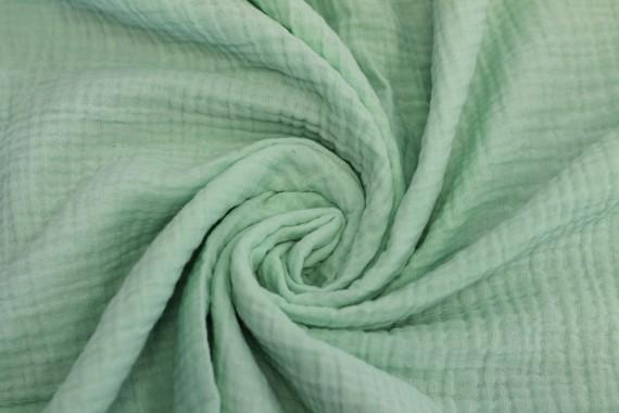 Tissu Double Gaze Vert d'Eau -Au Mètre