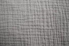 Tissu Double Gaze Gris Clair -Coupon de 3 mètres