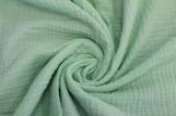 Tissu Double Gaze Vert d'Eau -Coupon de 3 mètres