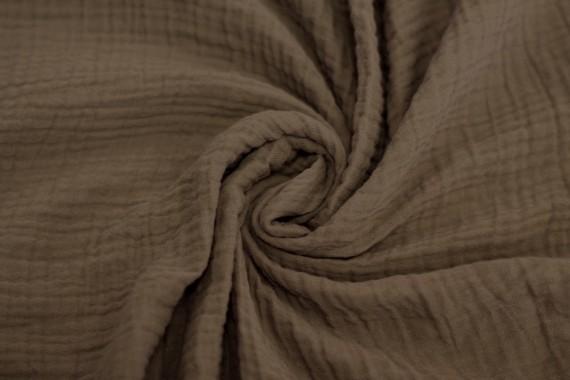 Tissu Double Gaze Beige -Coupon de 3 mètres
