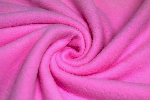 Tissu Polaire Rose Bonbon Coupon de 3 mètres