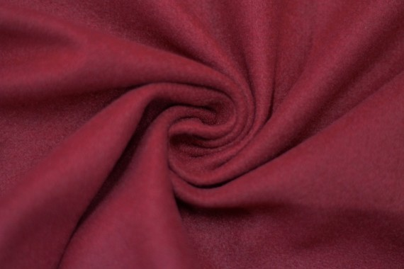 Tissu Lainage Caban Rouge -Coupon de 3 mètres