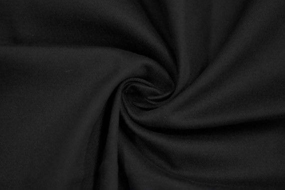 Tissu Gabardine Épaisse Noir -Au Mètre