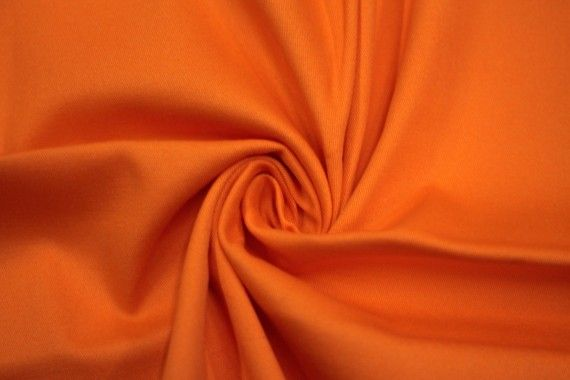 Tissu Gabardine Épaisse Orange -Au Mètre