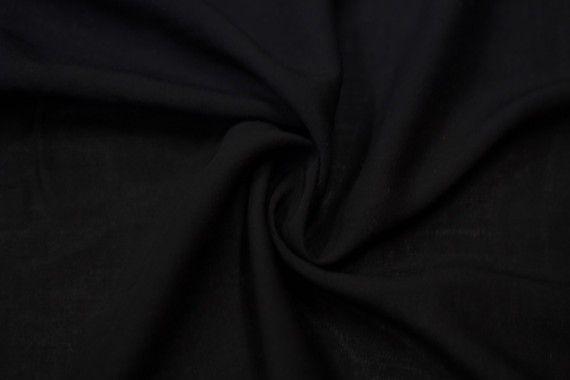Tissu Viscose Unie Noir -Au Mètre