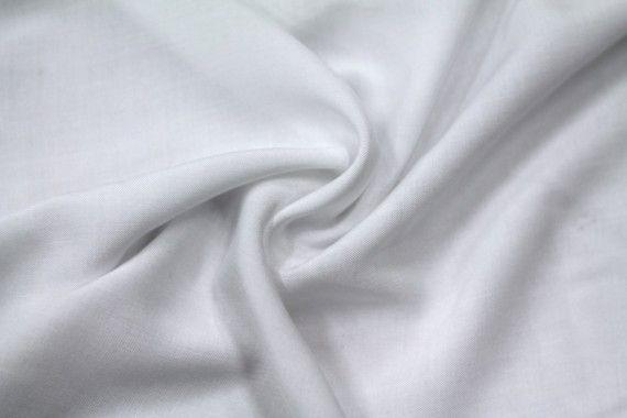 Tissu Viscose Unie Blanc -Au Mètre