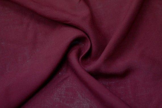 Tissu Viscose Unie Bordeaux -Au Mètre