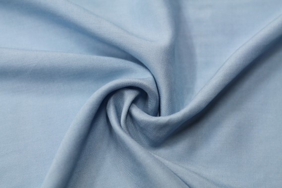 Tissu Viscose Unie Bleu horizon -Au Mètre